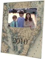 F1782-Chesapeake Bay & Maryland Antique Map Picture Frame