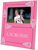 F1785- Lacrosse Sticks on Pink Picture Frame