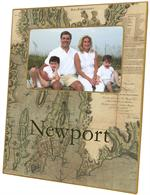 F1796-Newport & Narragansett Bay Antique Map Picture Frame