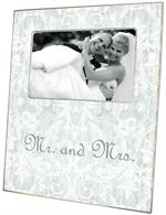 F1804- Silver Antique Damask Picture Frame