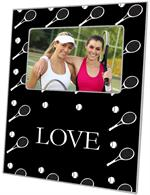 F1841 - Black Tennis Personalized Picture Frame