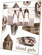 F1847-Brown Island Shells Picture Frame