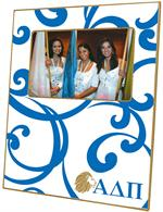 F2107 - Alpha Delta Pi Sorority Picture Frame Curly Curl