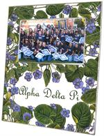 F2108 - Alpha Delta Pi Sorority Picture Frame Sweet Violets