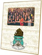 F2109- Alpha Delta Pi Sorority Crest Picture Frame Architectural