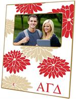 F2215 - Alpha Gamma Delta Picture Frame  Red & Tan Mums
