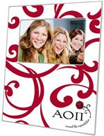 F2257 - Alpha Omicron Pi Picture Frame Curly Curls