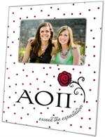 F2260 - Alpha Omicron Pi Picture Frame Red Dots