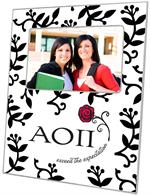F2261 - Alpha Omicron Pi Picture Frame Blackberry