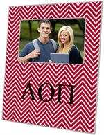 F2391 - Alpha Omicron Pi Red Chevron Picture Frame