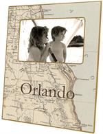 F2404 - Florida Mid East Coast Map Picture Frame