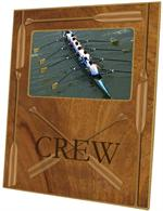 F2477 - Crew-Rowing Oars on Woodgrain Picture Frame