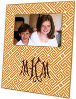 F2658 - Orange & White Fret Pattern Picture Frame
