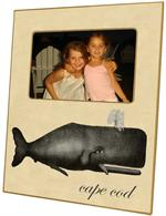 F2778-Antique Charcoal Whale Personalized Picture Frame