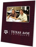 F3901-Texas A&M University Picture Frame on Burgundy Crock