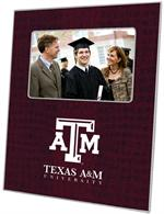 F3902-Texas A&M University Picture Frame Stacked Burgundy Crock