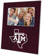 F3903-Texas A&M Picture Frame with Texas Burgundy Crock