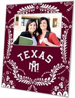 F3906-Texas A&M Picture Frame Arched Burgundy Provencial