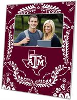 F3907-Texas A&M Picture Frame with Texas Burgundy Provencial