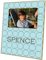 F585-Brown & Blue Circles Personalized Picture Frame