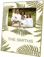 F589-Ferns on Creme Personalized Picture  Frame