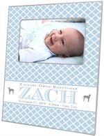 F8445D- Baby Boy Gift with Dogs Personalized Picture Frame