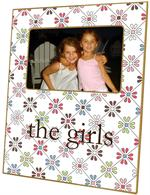 F897-Retro Daisy Personalized Picture Frame