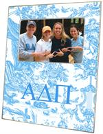 F958 - Alpha Delta Pi Sorority Blue Toile  Picture Frame
