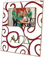 F983 - Alpha Gamma Delta Curly Q Sorority Frame