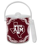 IB3907-Texas A&M Ice Bucket with Texas Burgundy Provencial