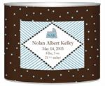 L1605- Birth Announcement Personalized Baby Bin