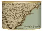 L1708 - South Carolina Coast Antique Map Letter Box