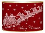 LB2784- Dash Away Red Santa & Sleigh Decoupage Christmas Card Holder