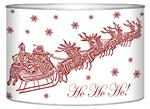 LB2785- Dash Away White Santa & Sleigh Decoupage Christmas Card Holder
