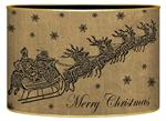 LB2789- Dash Away Burlap Santa & Sleigh Decoupage Christmas Card Holder