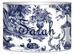 L435 - Navy Toile Letter Box