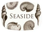 M2405 - Taupe Shells Personalized  Melamine Plate/ Platter