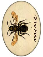 PW2638 - Bee Mine Flat Oval Paperweight