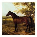 P220-SQ Horse Decoupage Tray