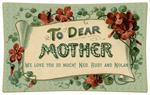 P2683-To Dear Mother Aqua Decoupage Tray