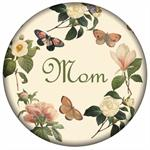 PW1118-Floral 1 on Ivory Personalized Paperweight