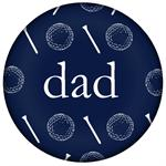 PW1198-Navy Golf Personalized Paperweight