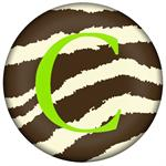 PW1448-Brown Zebra Personalized Paperweight