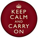 PW1730-Keep Calm And Carry On Red Paperweight