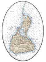 PW2487- Block Island Nautical Chart Paperweight