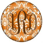 PW2532 - Orange Damask Paperweight