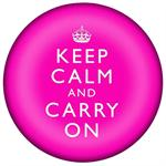 PW2631 - Keep Calm And Carry On Hot Pink Paperweight