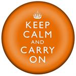 PW2632 - Keep Calm And Carry On Orange Paperweight