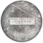 PW2636 - Firenze Italy Map Paperweight