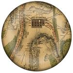 PW2651 - The Battle of Gettysburg Antique Map Paperweight